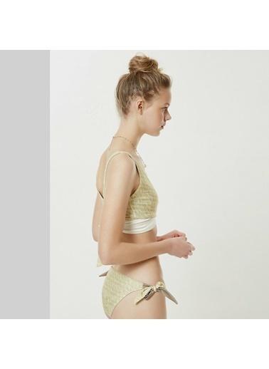 Yargıcı Çift Taraflı Bikini Alt Bej